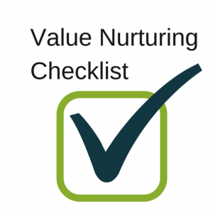Value Nurturing Checklist