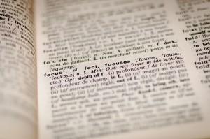 focus dictionary