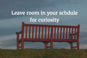 Leave Room for Curiosity