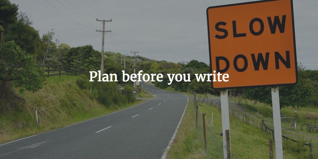 plan before
