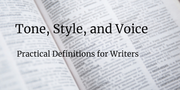 dictionary page with Tone, Style Voice heading