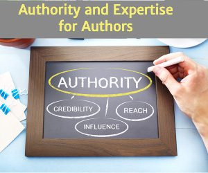 chalkboard with the words authority, credibility, reach, and influence
