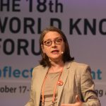 Michele Wucker talking at the World Knowledge Forum