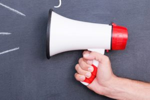 megaphone with words Brag Better