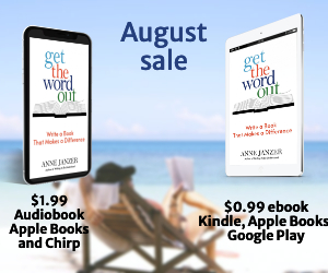 Someone reading in a beach chair. Get the Word out audiobook and ebook images
