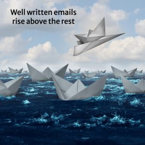 Paper boats on stormy water, one lifted above on a paper airplane
